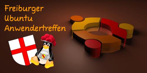Logo Freiburger Ubuntu Anwendertreffen quer - 500x250px