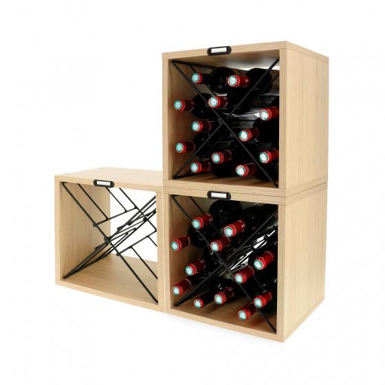 casiers a vin pour 12 bouteilles 36 x 30 x 36 5 3 pieces