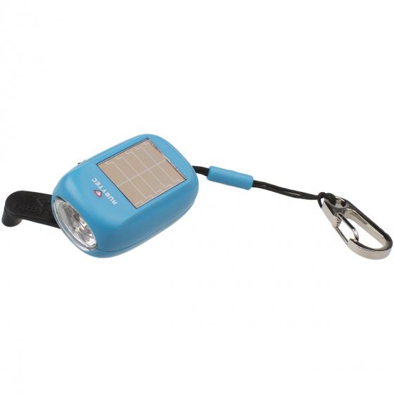 mini lampe de poche kao clip led solaire 4 6 cm abs bleu clair