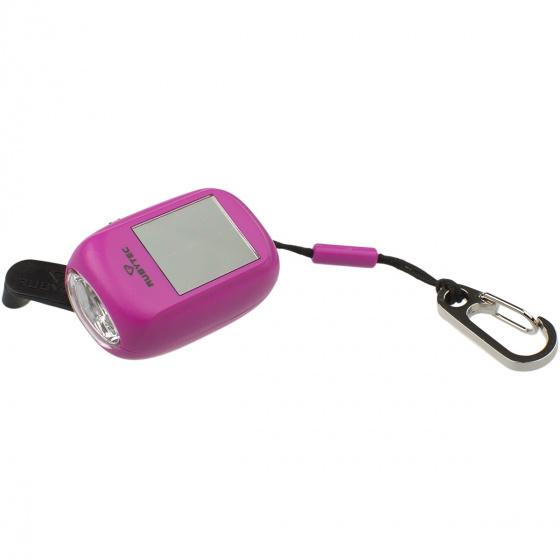mini lampe de poche kao clip led solaire 4 6 cm abs rose