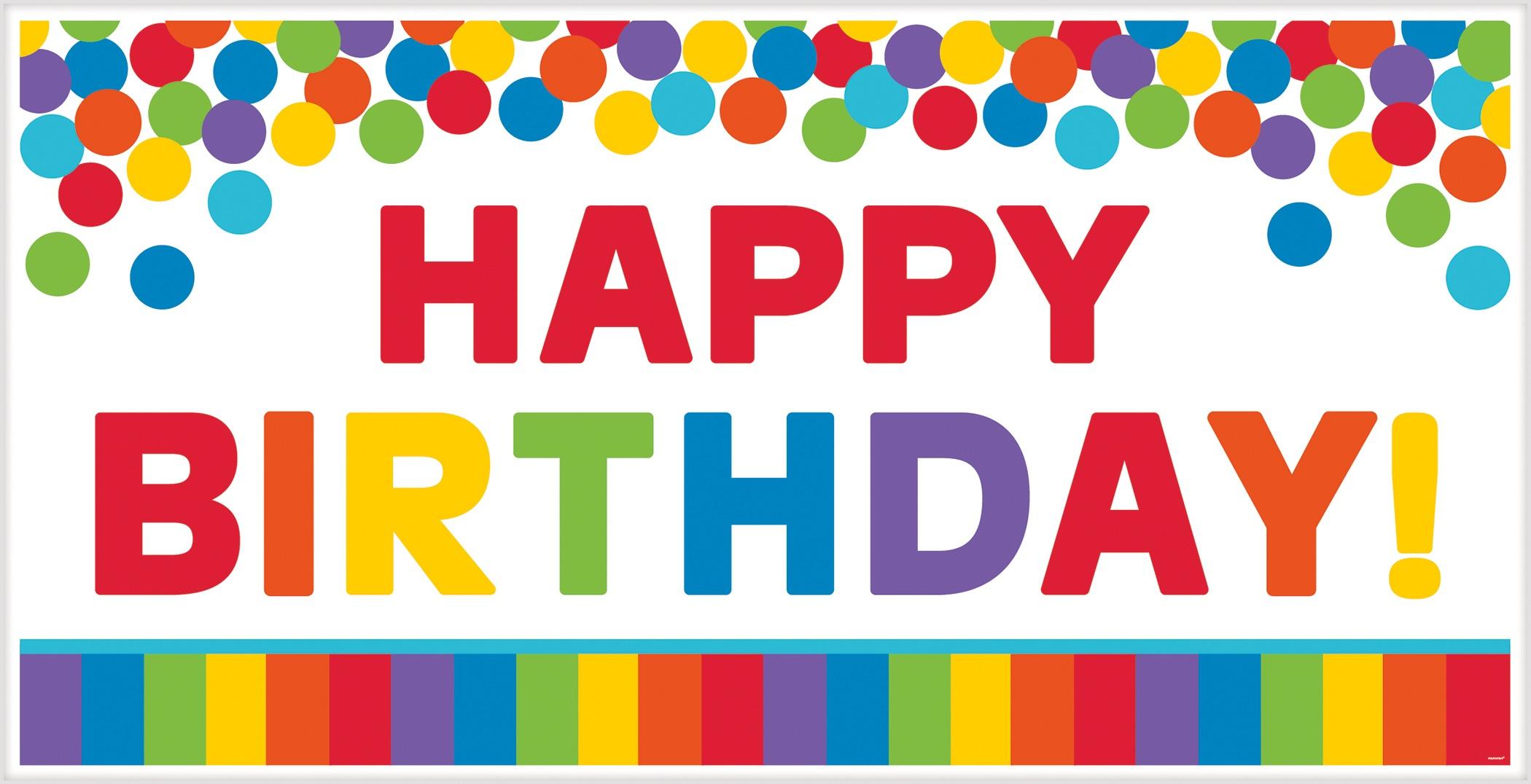 Amscan birthday banner Happy Birthday multicolor 165 x 85