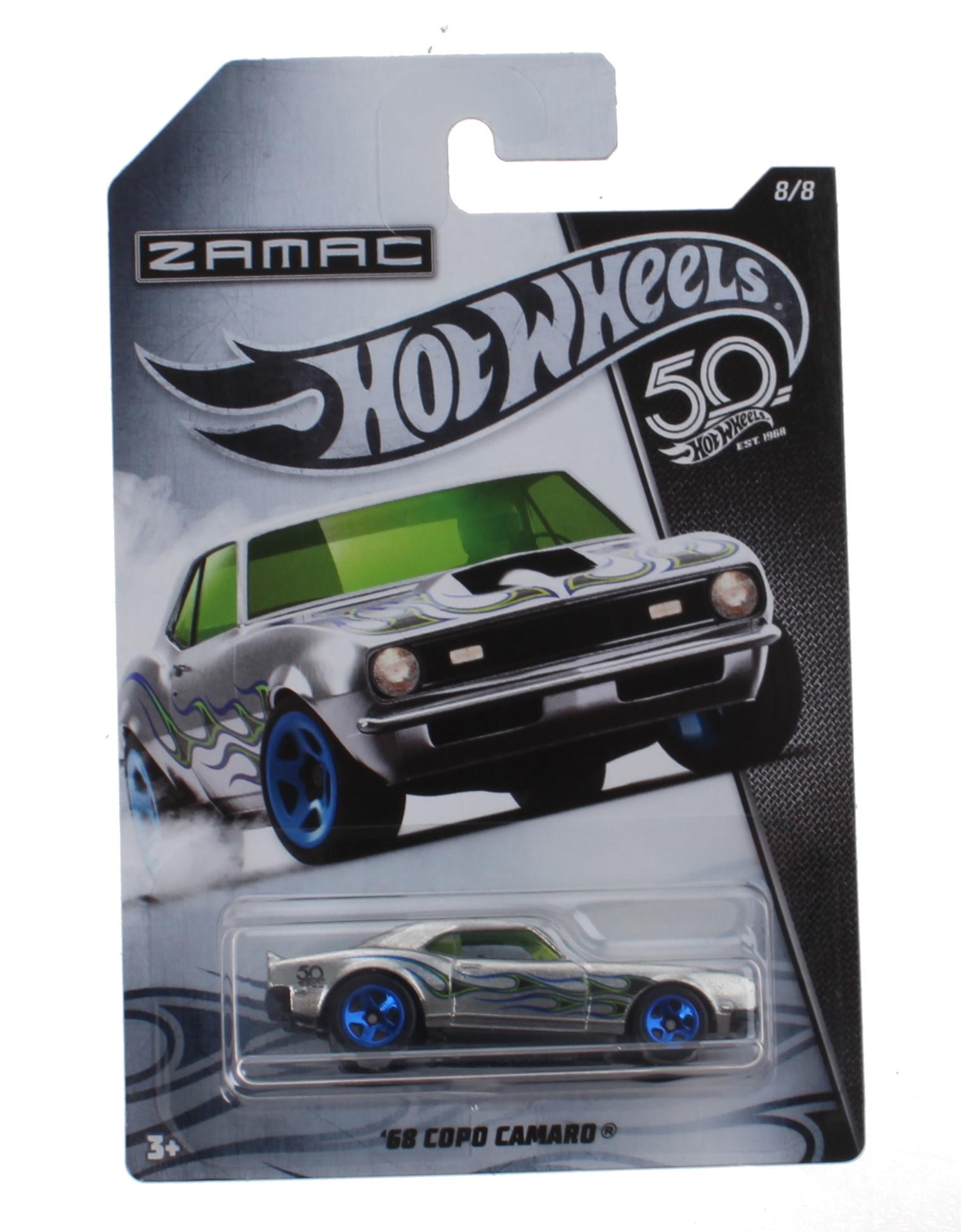 hight resolution of hot wheels zamac jubilee car 68 copo camaro silver 7 5 cm