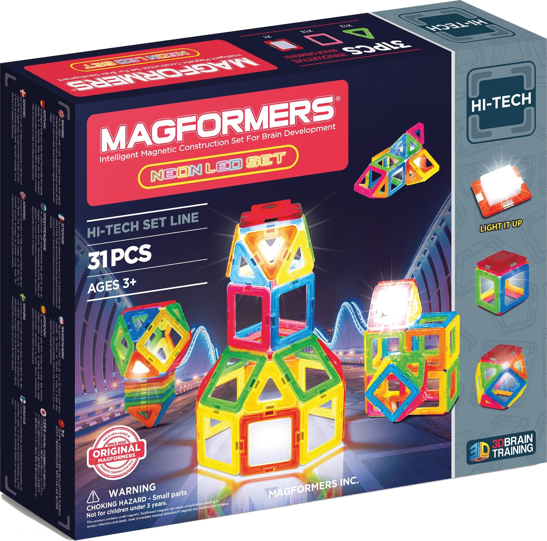 Magformers Neon Led set 31delig  InternetToys