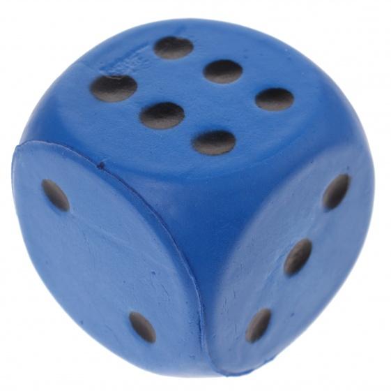 Johntoy foam dobbelsteen 4 cm blauw  InternetToys