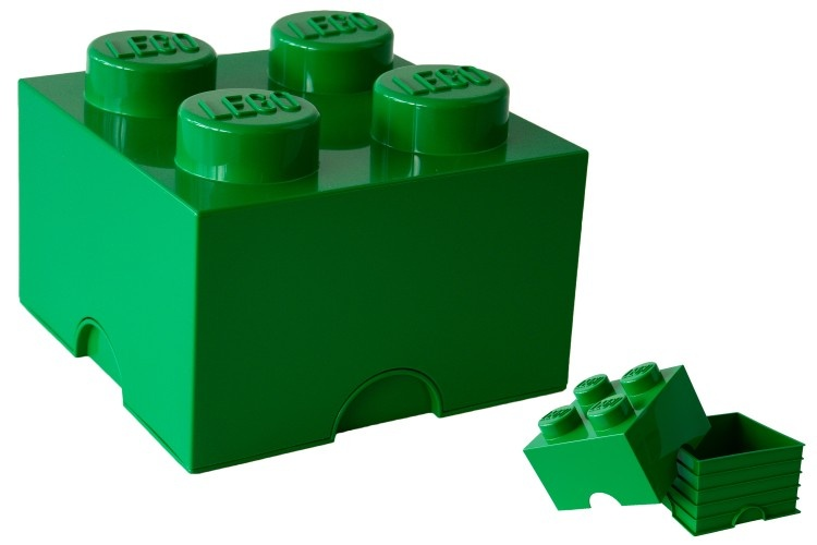 LEGO Storage Brick 4 6L Groen  InternetToys