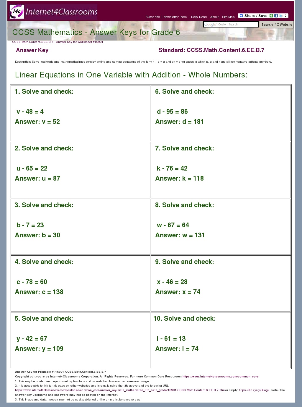 Simpsons Variable Worksheet Answer Key