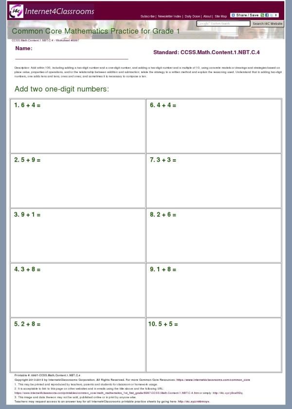Description - Worksheet #6997