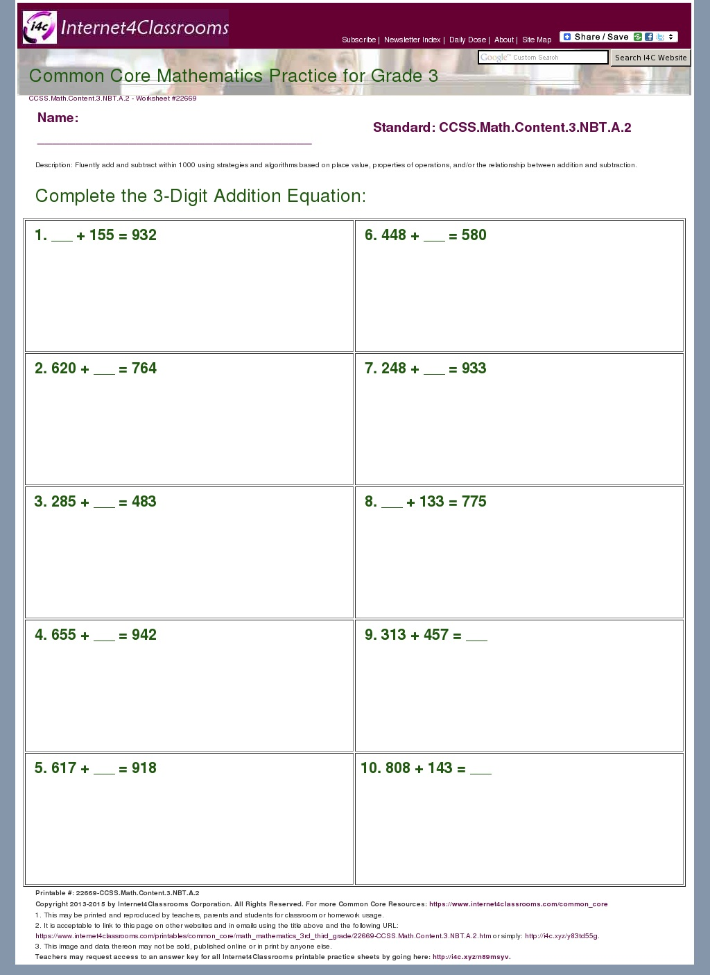 Algebra 1 Multi Step Equations With Fractions Worksheet