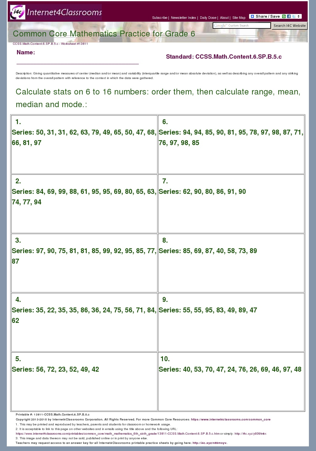 hight resolution of Mean Absolute Deviation Worksheet 8th Grade - Nidecmege