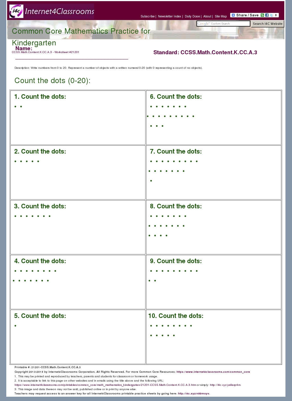 Percent Worksheet Common Core