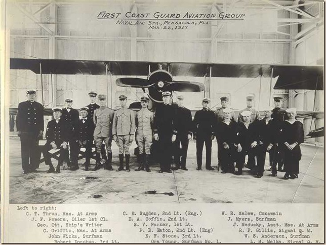 """U.S. COAST GUARD'S FIRST AVIATION GROUP"