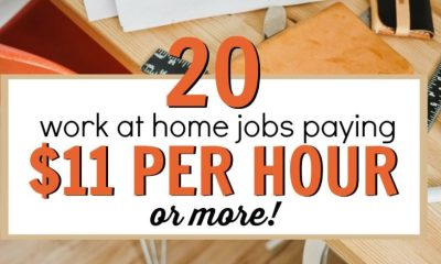 Top 20 Work from Home Jobs Paying $11 Per Hour or More!