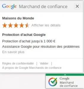 Les marchands de confiance de Google