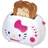 Hello Kitty 2-Slice Wide Slot Funny Toaster