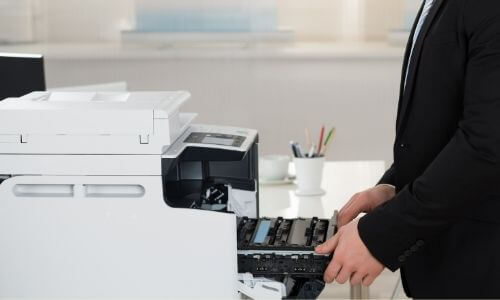 Adjust The Printer Tray