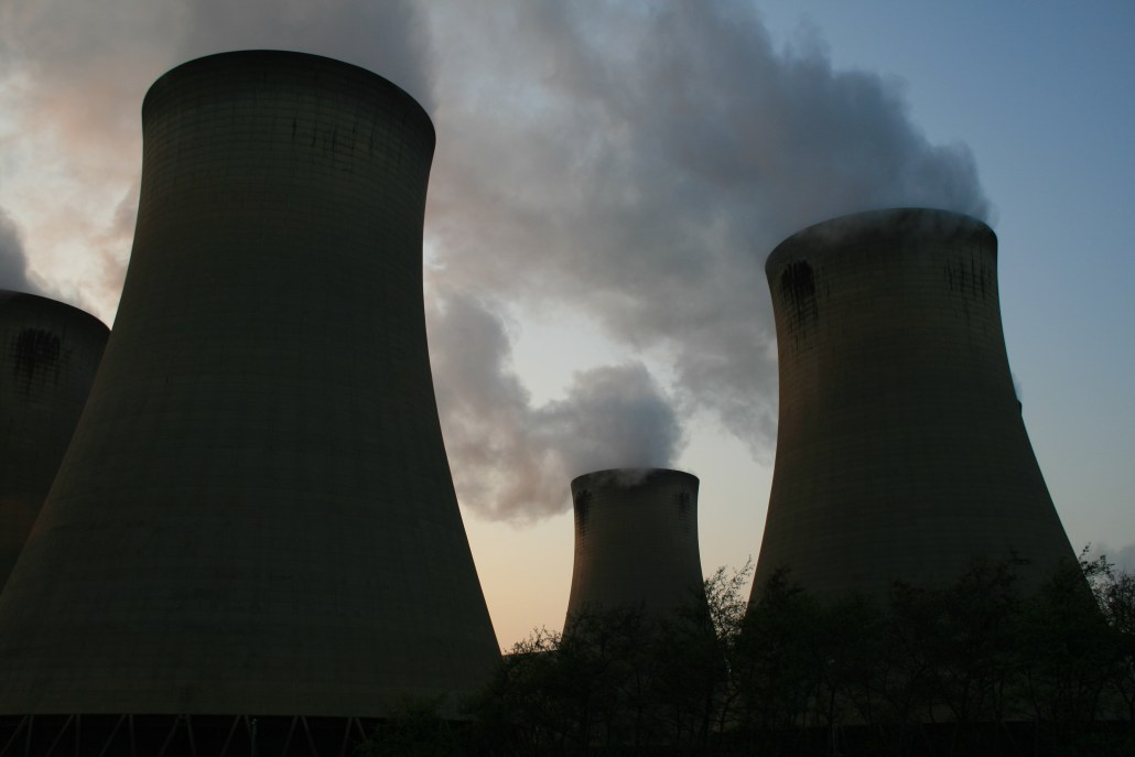 Image of cooling towers at a power station