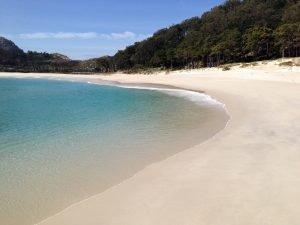 A coastal depositional landform - a beach