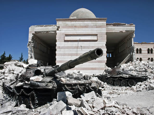 image of a Tank in Azaz Syria