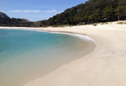 A beach on the Cies Islands