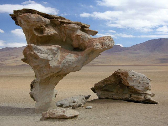 an image showing rocks eroded by wind erosion