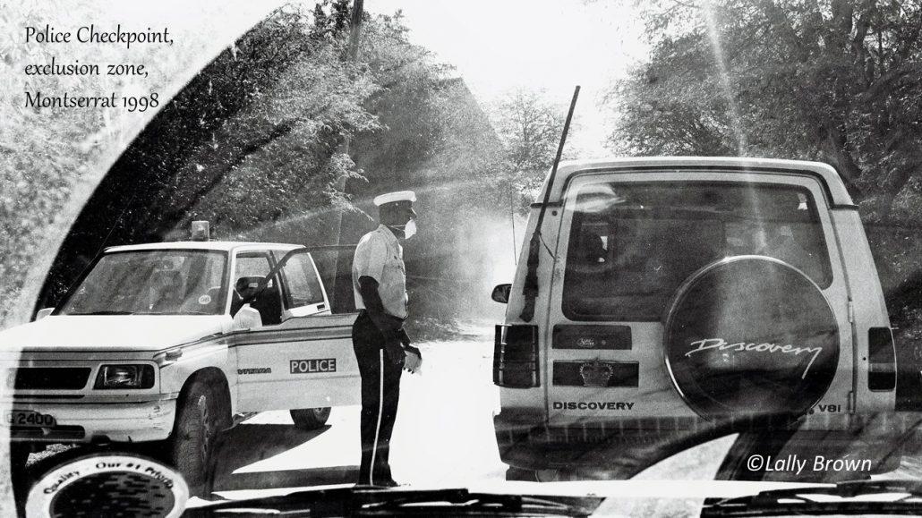Police checkpoint Montserrat