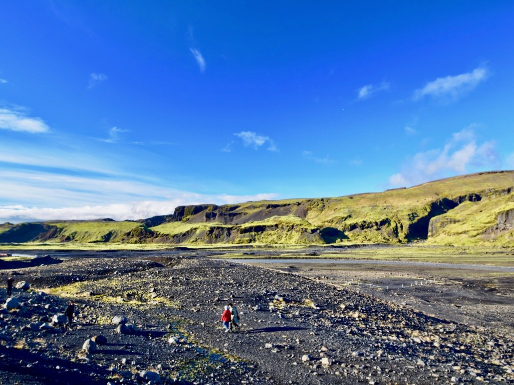 The outwash plain of the Sólheimajökull Glacier.