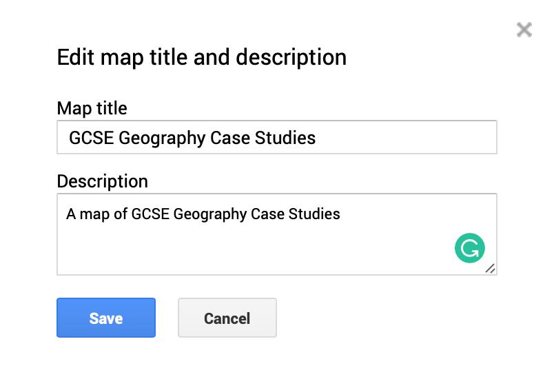 Edit map title and description
