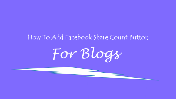 faceboook share count button
