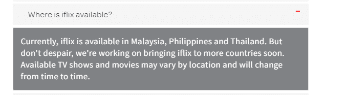Iflix Myanmar Internet FAQ