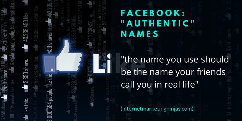 "Facebook: ""Authentic"" Names"