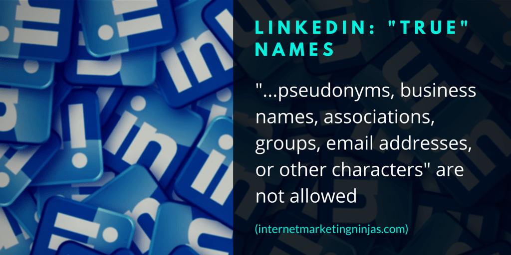 "LinkedIn: ""True"" Names"