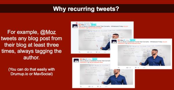 Recurring tweets