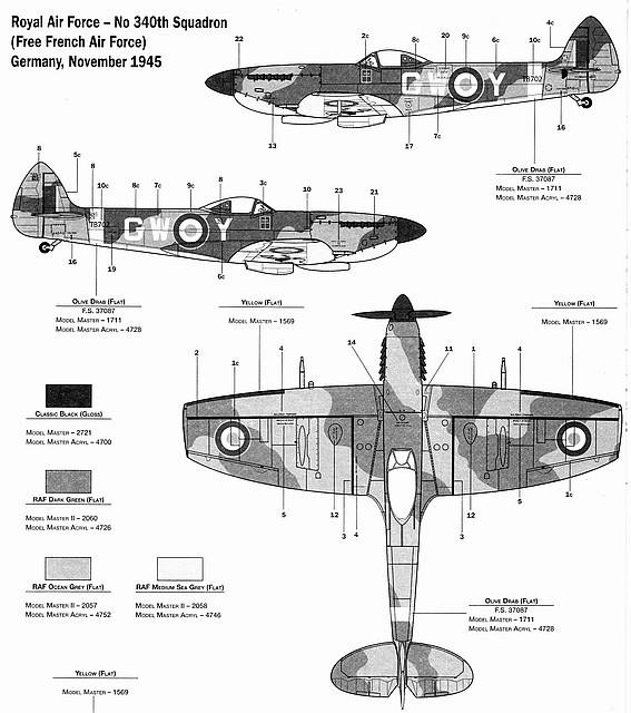 Italeri 1/48 Spitfire Mk.XVIe