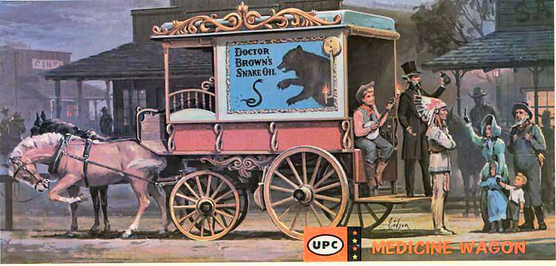 Image result for snake oil wagon
