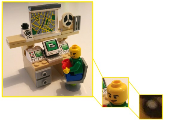 Lego Computer guy pixel eye