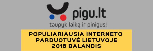 Populiariausia Interneto Parduotuvė - 2018 Balandis