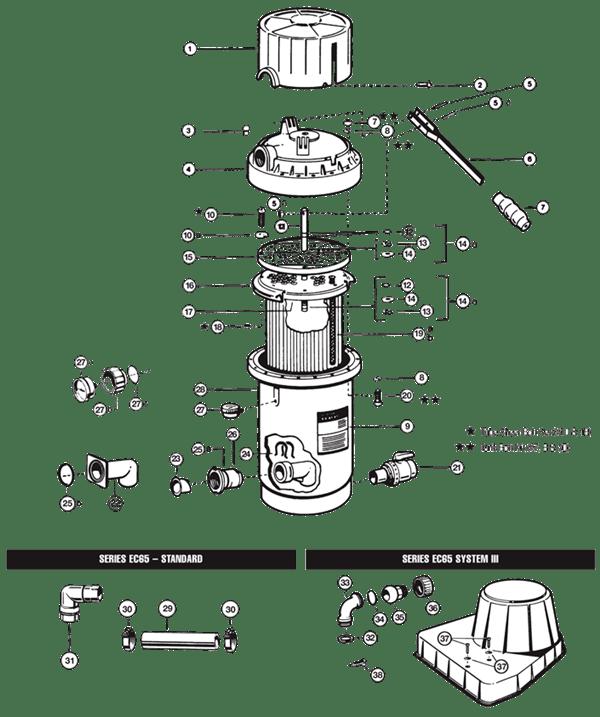 Hayward DE Filter Parts