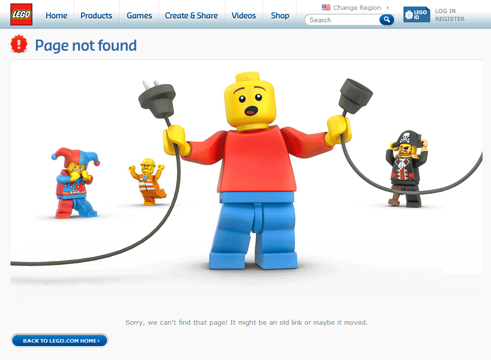 Lego's 404 Page
