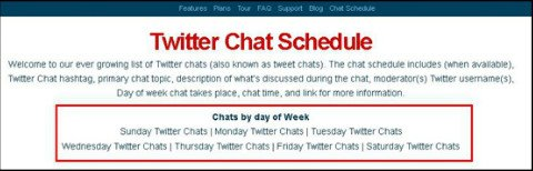 tweetreport chat schedule filtering