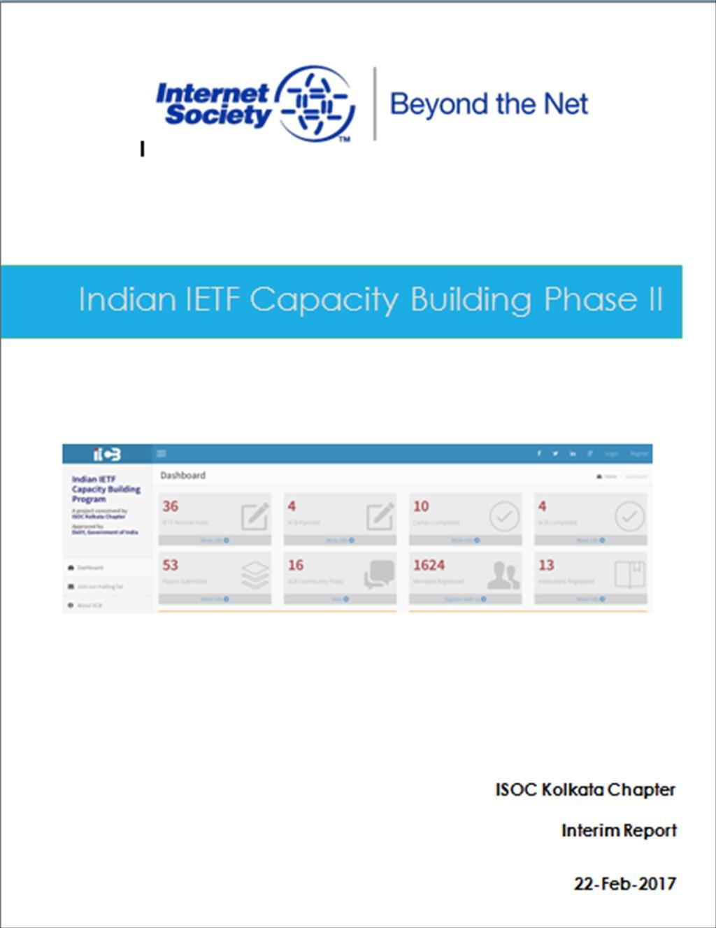 Indian IETF Capacity Building Phase II - Interim Report