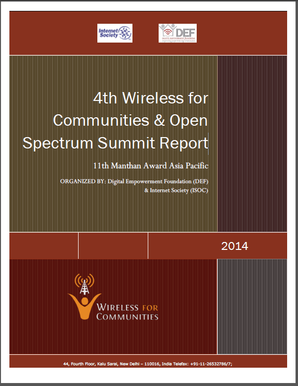 4th Wireless for Communities & Open Spectrum Summit Report