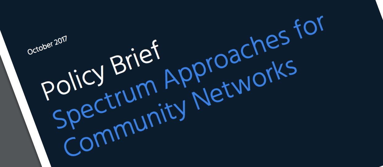 New Policy Brief published on Community Networks and Access to Spectrum