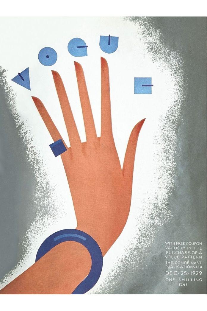 vogue poster, Vogue Cover, December 25 th, 1929