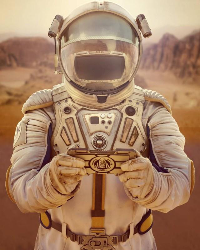 conceptual art photography astronaut, spaceman