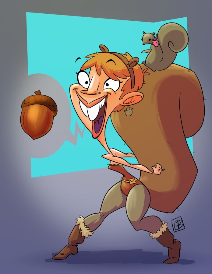 squirellgirl_Cartoon illustrations