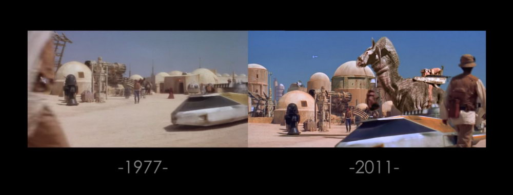 Star Wars Special Effects From 1980 Against 2004