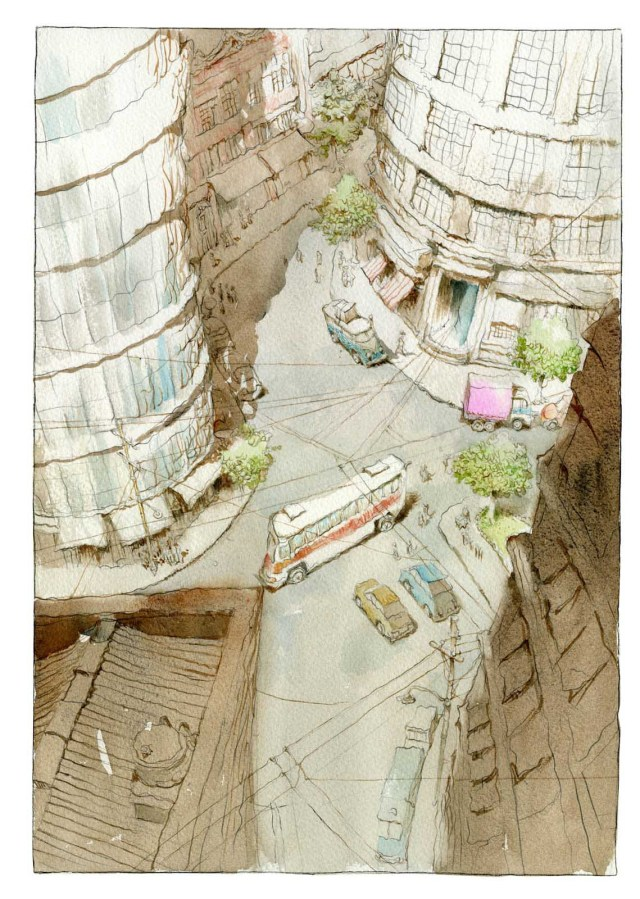painting_with_watercolors_city