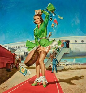 Picture of Vintage Pin-Up Girl (2)