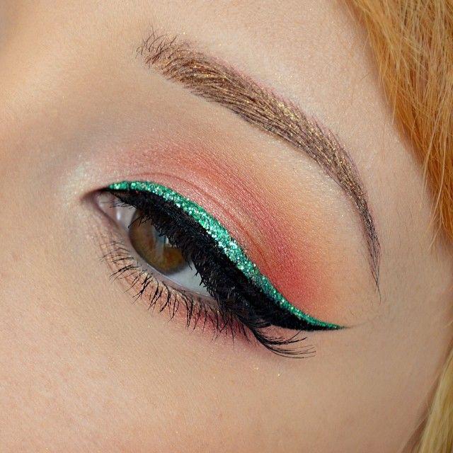 saint patricks day eye makeup