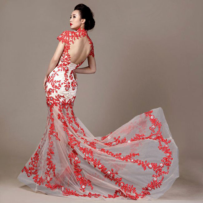 Chinese Wedding Gowns: Asian Inspired Chinese Red Dresses